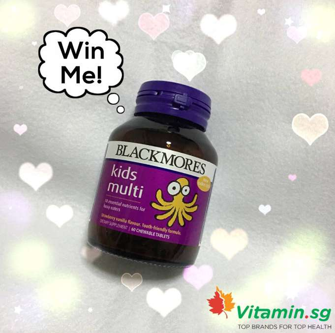 WIN a bottle of Blackmores Kids Multi Chewables for FREE at Vitamin.SG