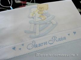 Sacchetto nascita bicolore pois per Jason Raia