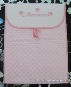 Buste portaoggetti trapuntata per Marianna