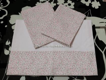 Set lenzuolino con rose in cotone