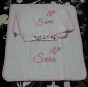 Asciugamano in spugna personalizzato per Sara