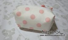 Pochette porta oggetti pois con fiocchetto