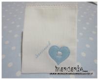 Sacchettini bomboniera portaconfetti bianchi con cuore per Samuel