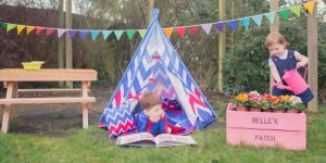Image showing Chevron Play Teepee Set in an outdoor setting.