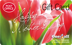 Image showing One4all Gift Card reading 'Happy Mother's Day'.