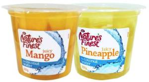 Image showing pots of Nature's Finest Mango and Pineapple in Coconut Water