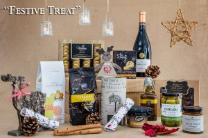 Festive Food Gifts - Image showing contents of Festive Treat Hamper