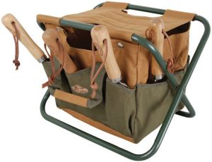 Great Gardening Gifts from A Place for Everything - Folding Garden Tool Store and Stool