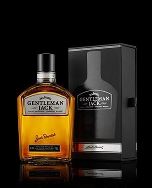 Gentleman Jack Rare Tennessee Whiskey Bottle and Box