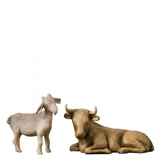 """WILLOW TREE OX & GOAT (SET X 2) 3.5""""h - 26180 - SOLD OUT"""