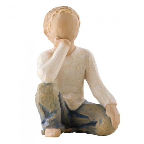 """WILLOW TREE INQUISITIVE CHILD - 3.0"""" 26227 - SOLD OUT"""