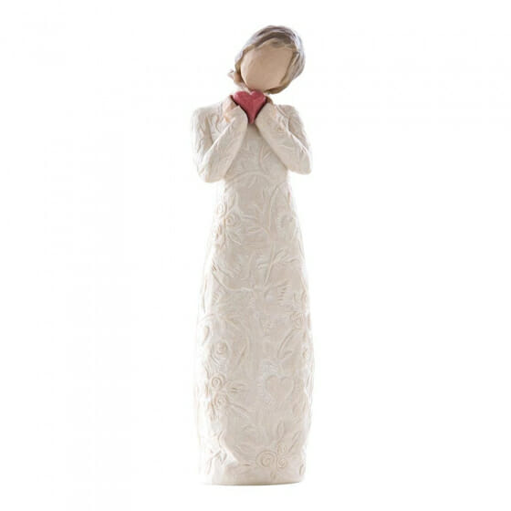 """WILLOW TREE JE T'AIME (I LOVE YOU) 26231 - 8.5"""" - SOLD OUT"""