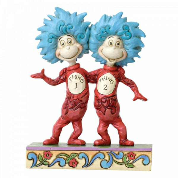 JIM SHORE - DR SEUSS THING ONE AND THING TWO 13CM 6002908 - SOLD OUT