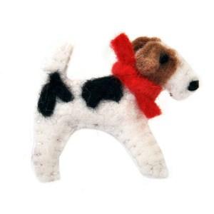 fox terrier brooch, gift for mum, gift for grandma