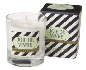 Parisian- Candle in Glass with Gift Wrap- Joie de Vivre