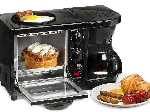 Elite Cuisine EBK-200B Maxi-Matic 3-in-1 Multifunction Breakfast Center