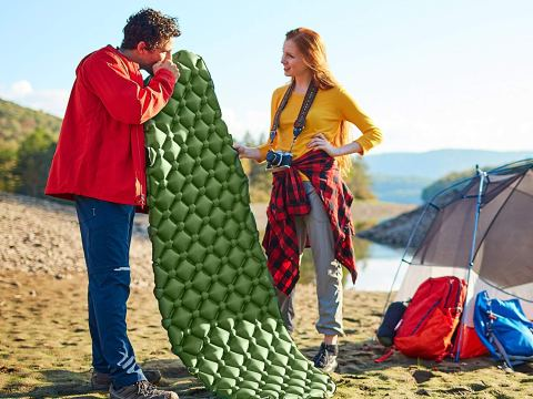 inflatable sleeping pad for camping backpacking
