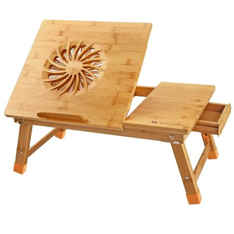 Bamboo Laptop Desk With Cooling Fan