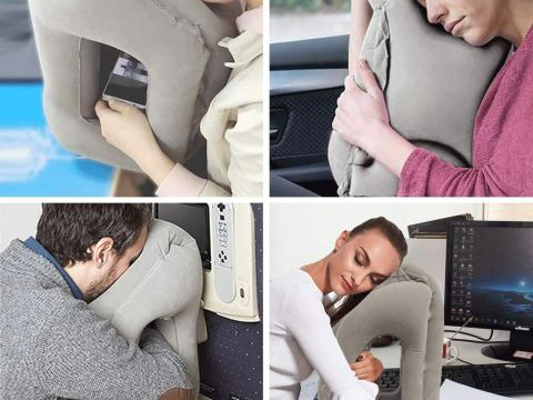Portable Inflatable Travel Pillow
