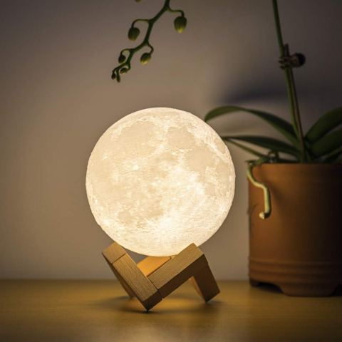 USB Rechargeable 3D Moon Lamp