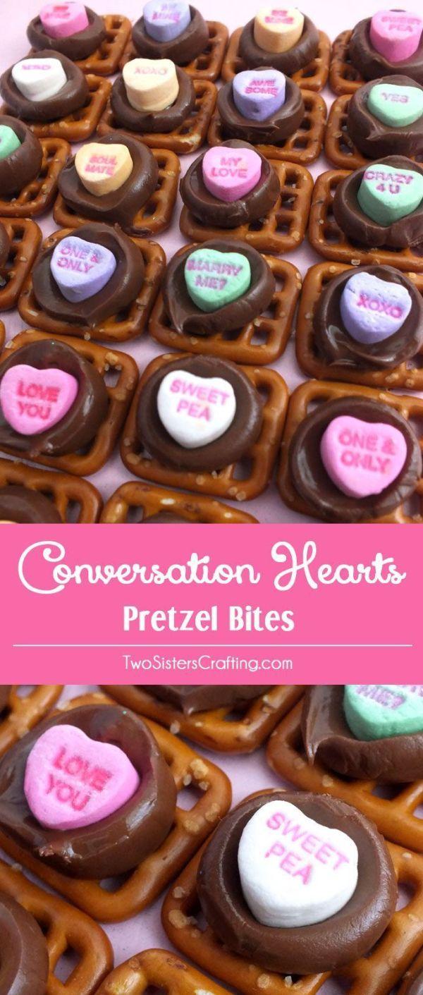 Valentines Day Gifts : Conversation Hearts Pretzel Bites ...