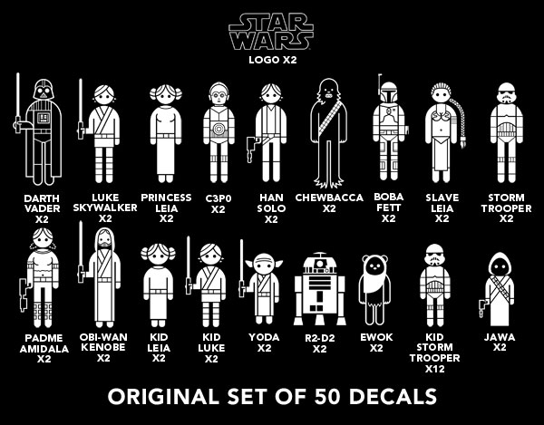 Gift Search Star Wars Car Decals Stickers