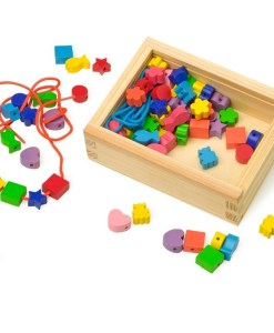 Creative Threading -Wooden Toy Box of Beads - 1