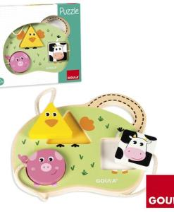 Goula 3 Farm Animal Puzzle sold by Gifts for Little Hands
