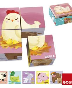 Goula Farm 4 Cubes Puzzle sold by Gifts for Little Hands