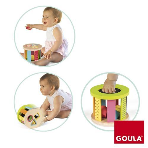 Goula Geometric Shape Sorter Drum -3