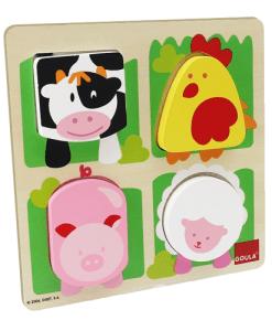 Goula Farm Animal Fabric Puzzle -1