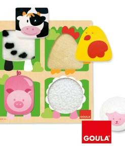 Goula Farm Animal Fabric Puzzle - 4