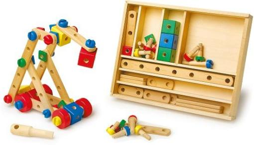 Wooden Construction Set sold by Gifts for Little Hands