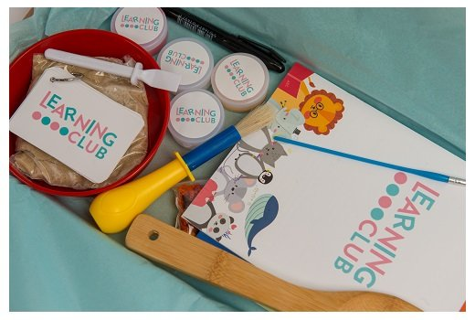 subscription box inside for the learning club