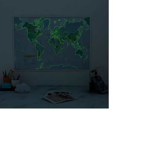 Glow in the Dark World Map for Children sold by Gifts for Little Hands