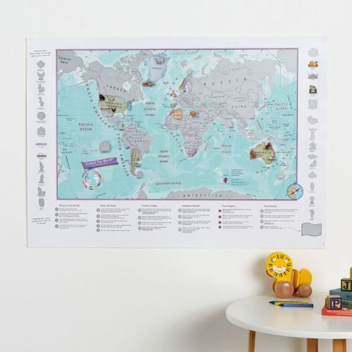 Scratch the World Kids Adventure World Map sold by Gifts for Little Hands