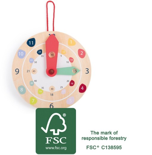 Wooden Educate Wall Clock sold by Gifts for Little Hands