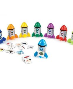 Rhyme and Sort Rockets Learning Resource