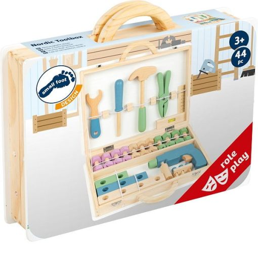 Wooden Nordic Kids Toolbox