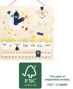 Children's Time, Date and Seasons Educate Learning Board
