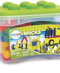 Interstar Bricks Construction Set 50 Pieces