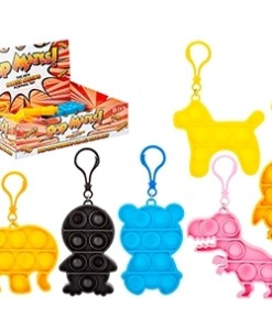 Pop Mates (Bubble) Clip On Fidget Toy - Animals