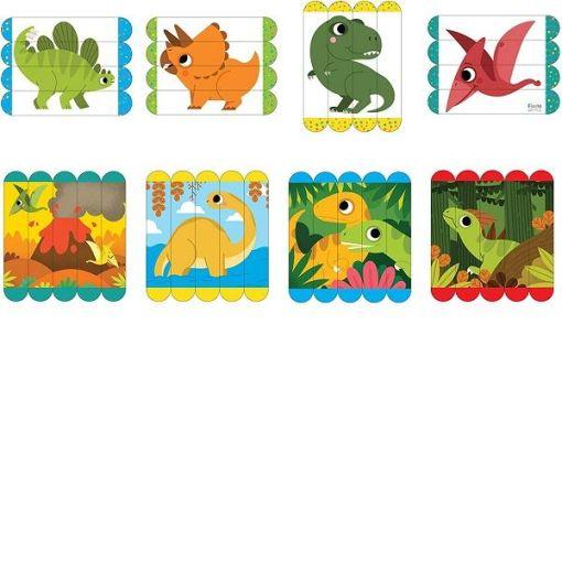 Dinosaurs Wooden Puzzle Sticks