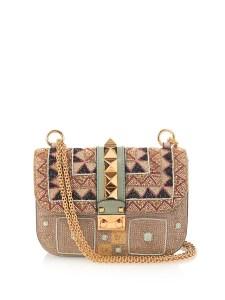Valentino Lock Small Beaded Shoulder Bag