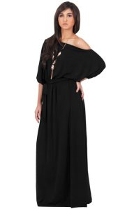 Koh Koh Women's One Shoulder Cocktail Evening Elegant Long Maxi