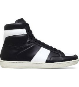 SAINT LAURENT Sl10h leather high-top trainers