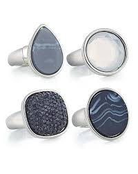 Mood Set of four crystal ring pack