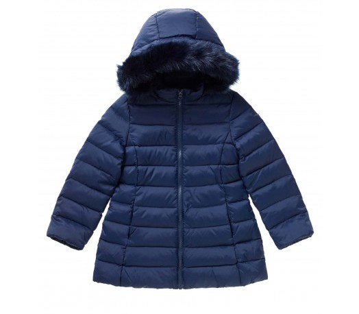 Girls Padded jacket with hood at Benetton