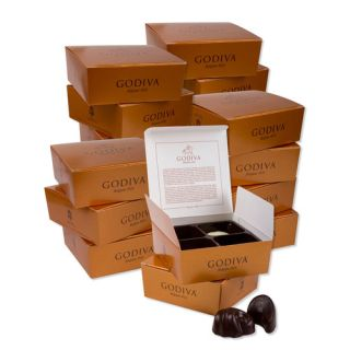 Godiva Gold Box 4 pieces - Bundle of 20 boxes