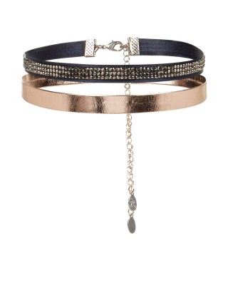 2x Sparkle Metallic Choker Necklace Pack atAccessorize